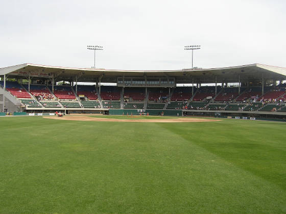 The view from Center Field- McCoy Stadium