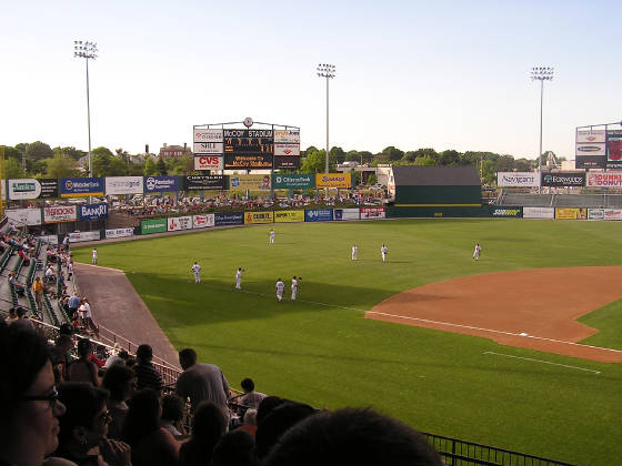 Pre-Game Warm Ups - McCoy Stadium, Pawtucket