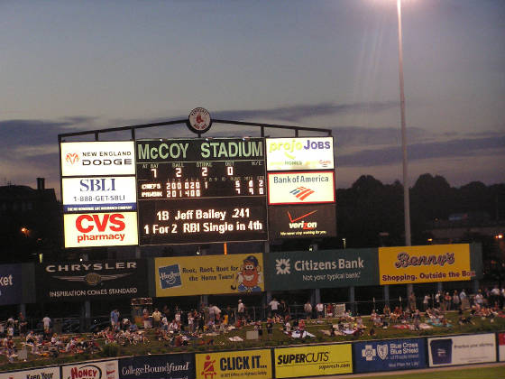 Keeping score at McCoy - McCoy Stadium, Pawtucket