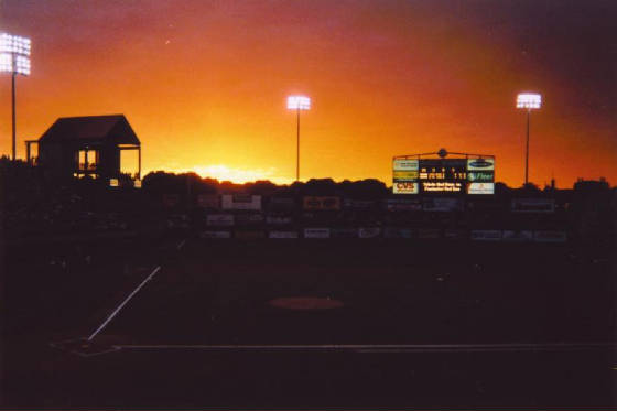Nightfall in Pawtucket - McCoy Stadium